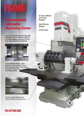 ROTTLER EXCLUSIVE Only manual machine on the market that can be easily upgraded to a full CNC machine. AC Servo Motors The Rottler F69M is a manual machine ...